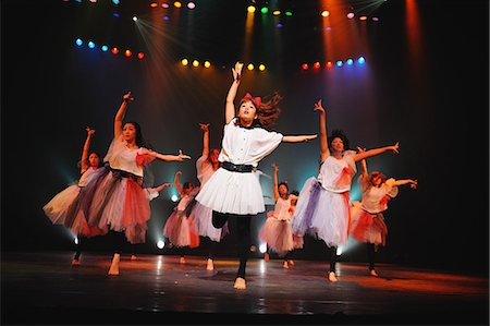 stage show - Group of dancers performing Stock Photo - Rights-Managed, Code: 859-06711162