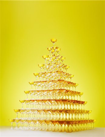 Champagne tower Stock Photo - Rights-Managed, Code: 859-06808705