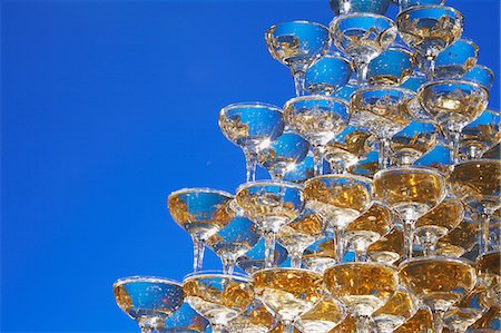 Champagne tower Stock Photo - Rights-Managed, Code: 859-06808700