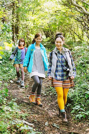 Girls in the mountains Stock Photo - Rights-Managed, Code: 859-06824606