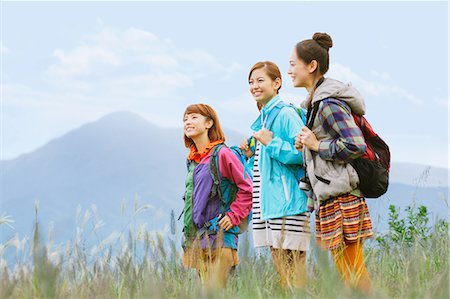 Girls in the mountains Stock Photo - Rights-Managed, Code: 859-06824603