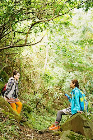 Girls in the mountains Stock Photo - Rights-Managed, Code: 859-06824614