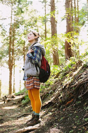 Girl in the mountains Stock Photo - Rights-Managed, Code: 859-06824610