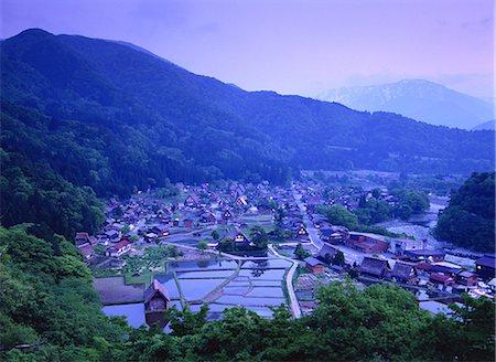 scenic and spring (season) - Shirakawa, Gifu, Japan Stock Photo - Rights-Managed, Code: 859-07284343