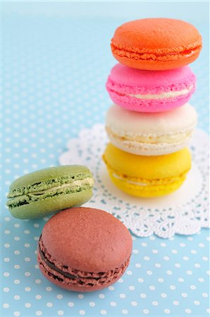 Macarons Stock Photo - Rights-Managed, Code: 859-07356439