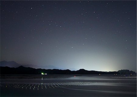 sky stars - Night Sky and Calm Sea Stock Photo - Rights-Managed, Code: 859-07441520