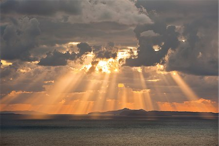 fantastically - Sunset sky and sea Stock Photo - Rights-Managed, Code: 859-07442236