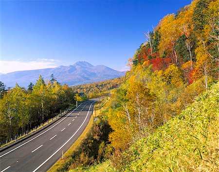 road landscape - Autumn colors Stock Photo - Rights-Managed, Code: 859-07495634