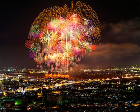 fireworks - Nagano Prefecture, Japan Stock Photo - Rights-Managed, Code: 859-08359109