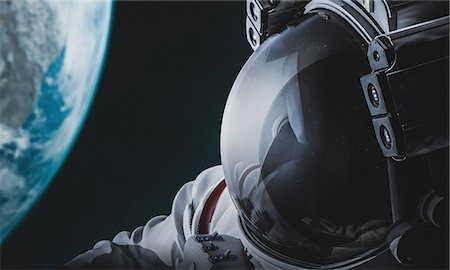 CG astronaut in space Stock Photo - Rights-Managed, Code: 859-08384615