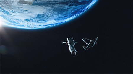 quest - CG astronauts in space Stock Photo - Rights-Managed, Code: 859-08384620