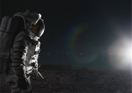 space - CG astronaut Stock Photo - Rights-Managed, Code: 859-08384621