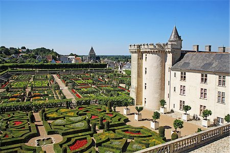 france - France, Loire Valley, Villandry, Chateau de Villangry, UNESCO World Heritage Stock Photo - Rights-Managed, Code: 859-08769821
