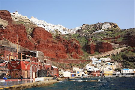 Greece, Cyclades islands, Santorini Island, Amoudi Bay Stock Photo - Rights-Managed, Code: 859-08769977