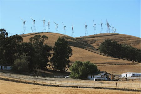 road landscape - Windmills Stock Photo - Rights-Managed, Code: 859-03598384