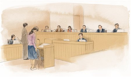 Court Of Law Stock Photo - Rights-Managed, Code: 859-03599041