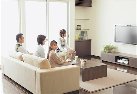 plasma - Family Watching TV Stock Photo - Rights-Managed, Code: 859-03599399