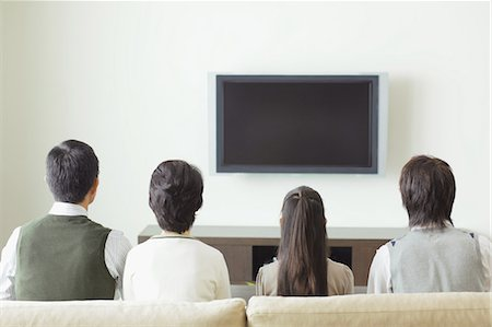 plasma - Family Watching TV Stock Photo - Rights-Managed, Code: 859-03599405