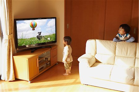 plasma - Children Watching TV Stock Photo - Rights-Managed, Code: 859-03599642