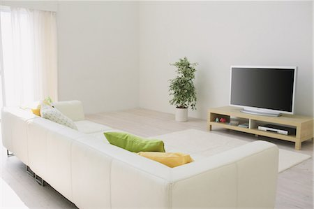 plasma - Living Room Stock Photo - Rights-Managed, Code: 859-03599774
