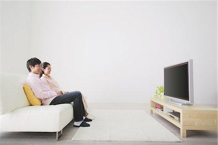 plasma - Japanese Couple Watching TV Stock Photo - Rights-Managed, Code: 859-03599839