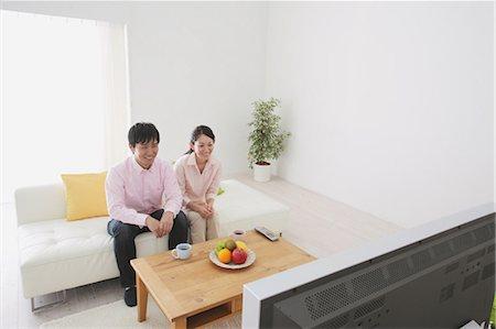 plasma - Japanese Couple Watching TV Stock Photo - Rights-Managed, Code: 859-03599844