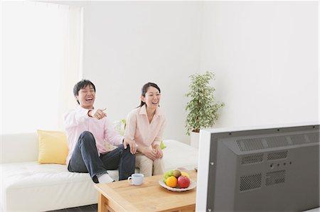 plasma - Japanese Couple Watching TV Stock Photo - Rights-Managed, Code: 859-03599845