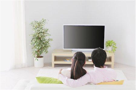 plasma - Japanese Couple Watching TV Stock Photo - Rights-Managed, Code: 859-03599848