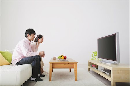 plasma - Japanese Couple Watching TV Stock Photo - Rights-Managed, Code: 859-03599840