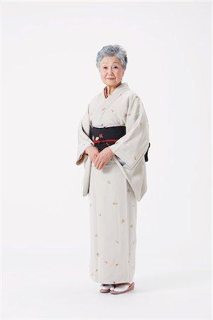 Senior Woman Wearing Kimono Stock Photo - Rights-Managed, Code: 859-03779951