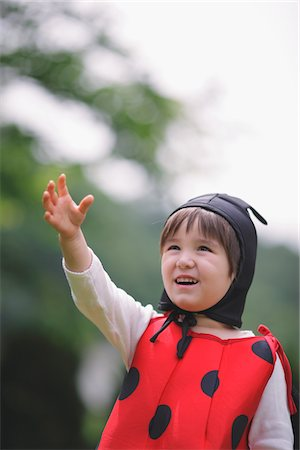 Boy Dressed as Ladybug Stock Photo - Rights-Managed, Code: 859-03781967