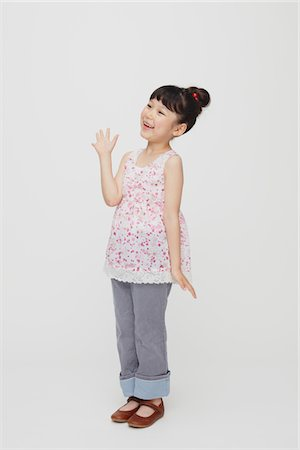 preteen beauty - Happy Smiling Hands Outstretched Stock Photo - Rights-Managed, Code: 859-03806034