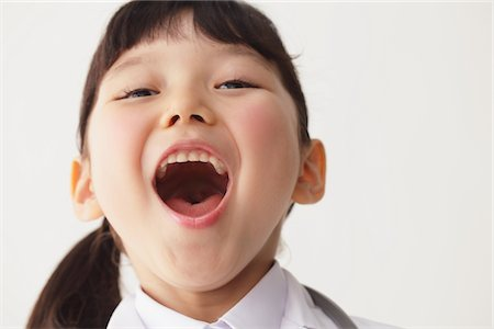 preteen open mouth - Girl as Nurse Mouth Open Stock Photo - Rights-Managed, Code: 859-03806125