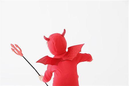 Boy in Red Devil Costume Stock Photo - Rights-Managed, Code: 859-03806254