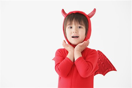 Boy in Red Devil Costume Stock Photo - Rights-Managed, Code: 859-03806257
