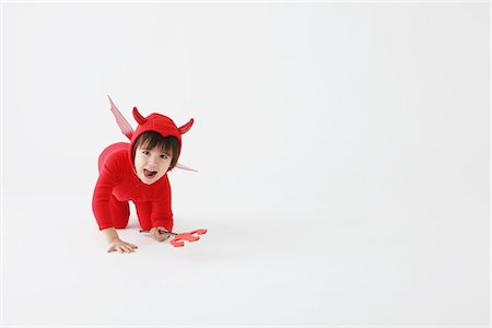 3 Year Boy Dressed Up As Devil Stock Photo - Rights-Managed, Code: 859-03806250