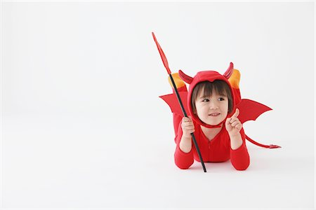Boy in Red Devil Costume Stock Photo - Rights-Managed, Code: 859-03806251