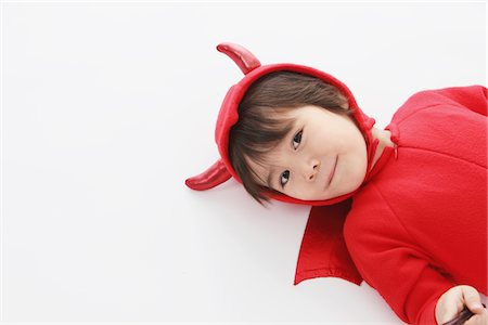 3 Year Boy Dressed Up As Devil Stock Photo - Rights-Managed, Code: 859-03806253