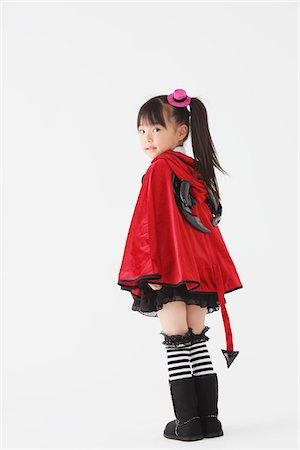 Girl Dressed In Halloween Costume Stock Photo - Rights-Managed, Code: 859-03806284