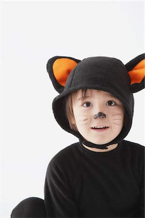 Boy Dressed As Cat Costume Stock Photo - Rights-Managed, Code: 859-03806319