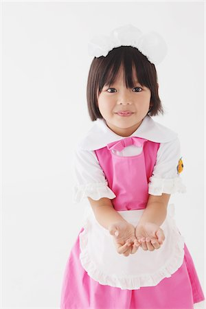 Japanese Girl Showing Hands Stock Photo - Rights-Managed, Code: 859-03806330