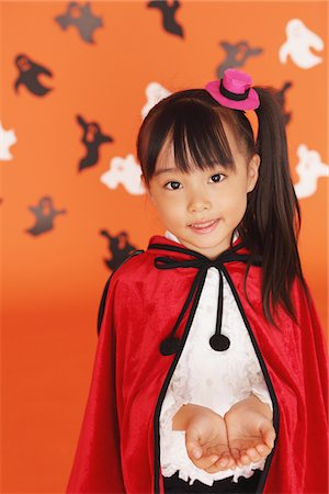 Girl Dressed In Halloween Costume Stock Photo - Rights-Managed, Code: 859-03806366