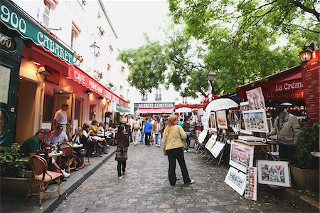 Montmartre,Paris Stock Photo - Rights-Managed, Code: 859-03839094