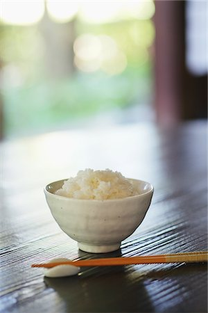 Bowl Of Rice And Chopsticks Stock Photo - Rights-Managed, Code: 859-03839754