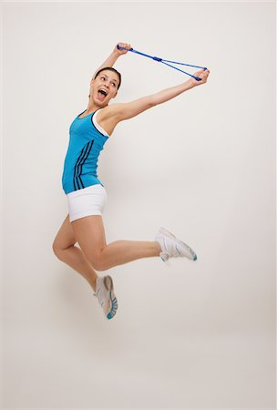 slim - Young Woman Jumping Stock Photo - Rights-Managed, Code: 859-03840018
