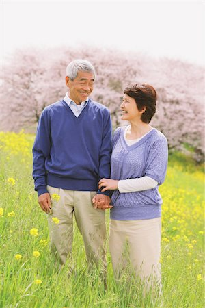 Affectionate Middle-Aged Japanese Couple Looking Into Each Other Stock Photo - Rights-Managed, Code: 859-03840273
