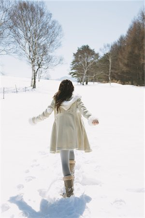 Girl Hanging Out In Snow Stock Photo - Rights-Managed, Code: 859-03860654