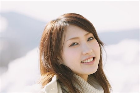Portrait Of Beautiful Japanese Teenage Girl Stock Photo - Rights-Managed, Code: 859-03860680