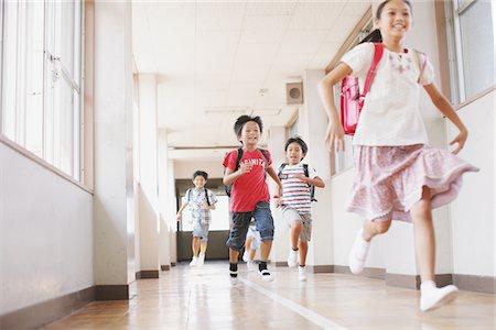 Children Running In School Corridor Stock Photo - Rights-Managed, Code: 859-03860857