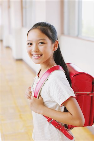preteen girl - Happy Smiling Girl With School Bag Stock Photo - Rights-Managed, Code: 859-03860876